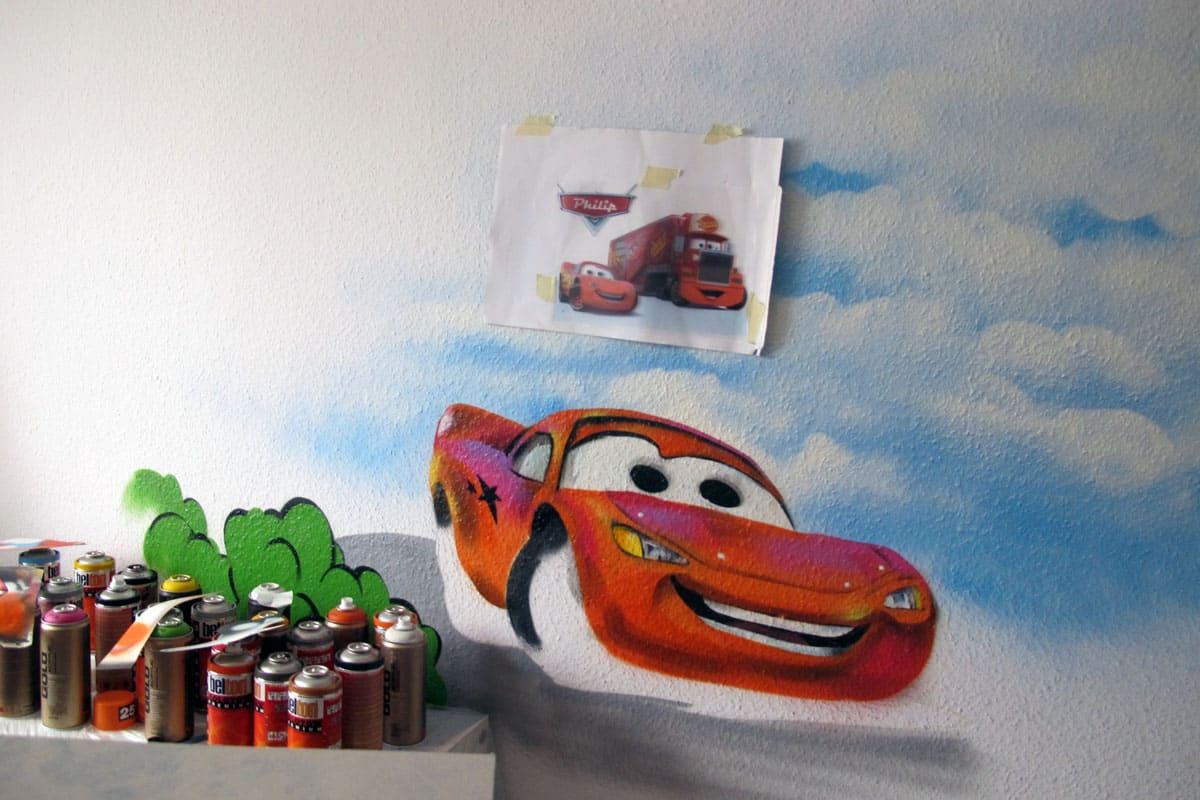 Leseecke Gestalten Kinderzimmer Junge Auto Midir