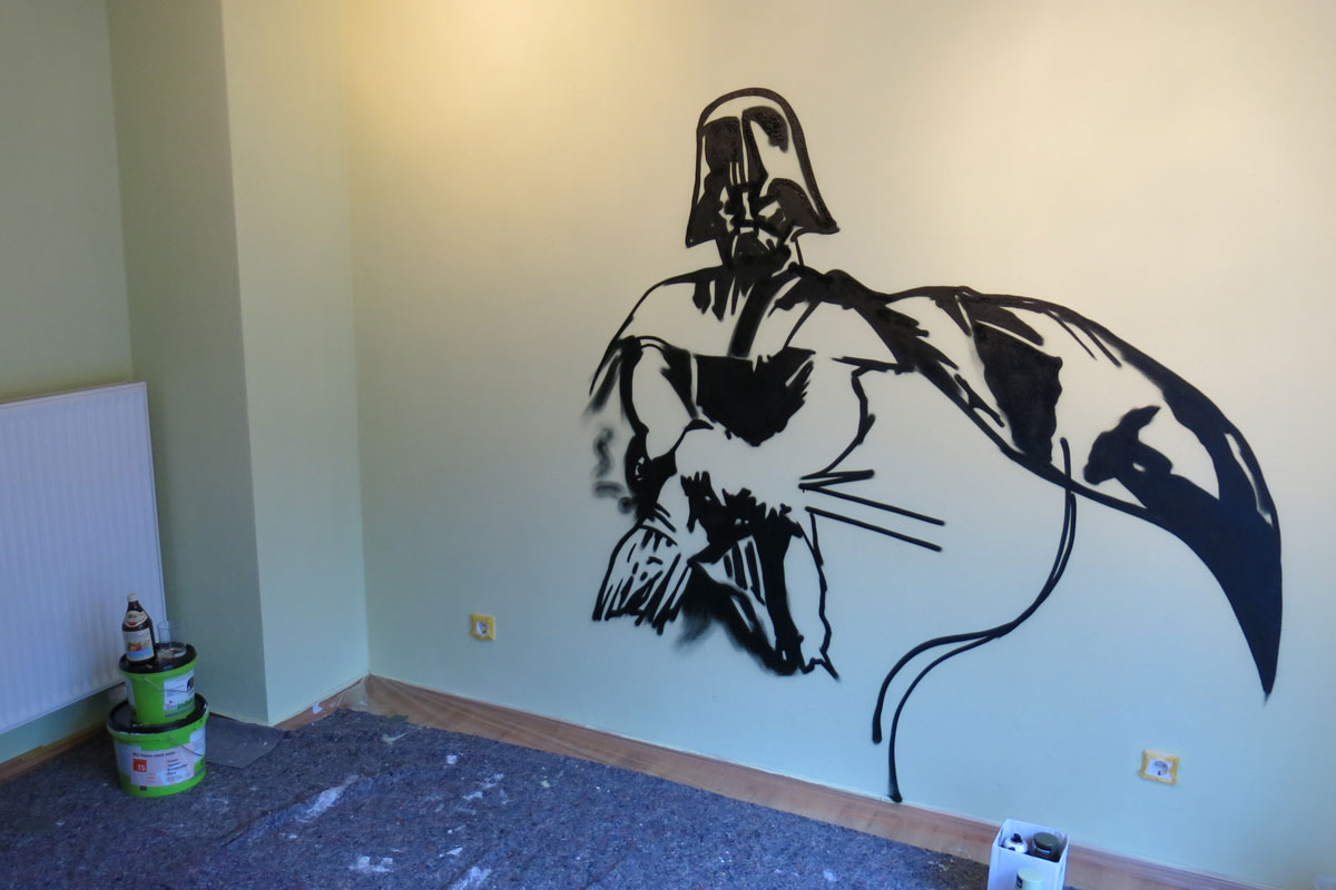 graffiti stuttgart star wars kinderzimmer graffiti. Black Bedroom Furniture Sets. Home Design Ideas