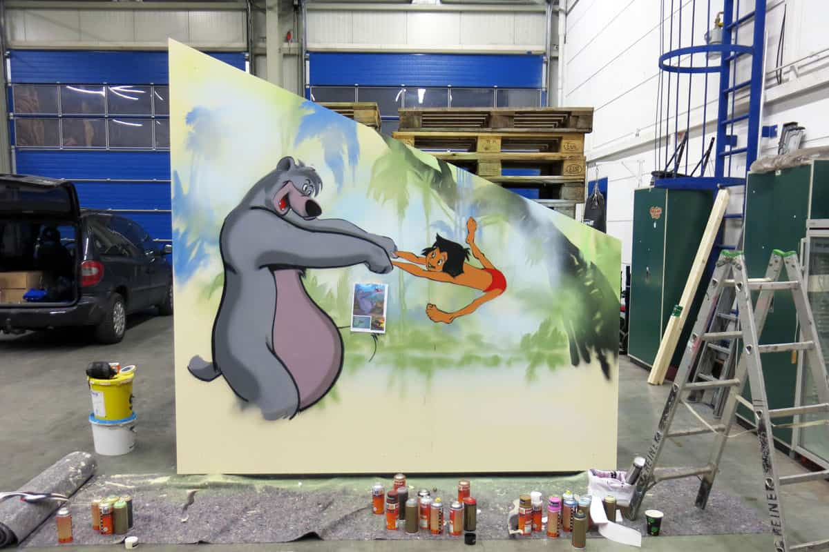 Graffiti Stuttgart » Kinderzimmer-Graffiti Dschungelbuch/ Las ...