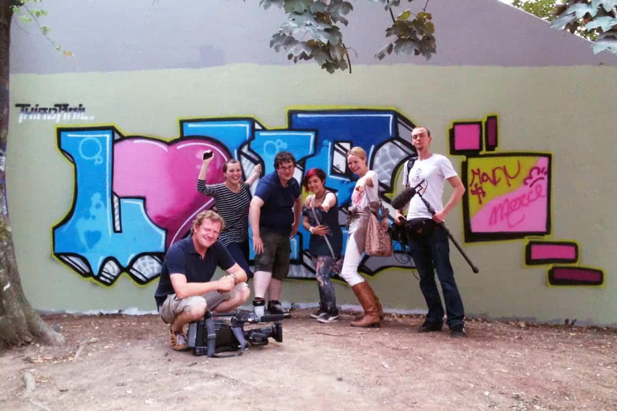 Graffiti Workhsop mit RTL Punkt 12! RTL Sonderserie für Menschen mit Handicap die sich eine Partnerschaft wünschen.
