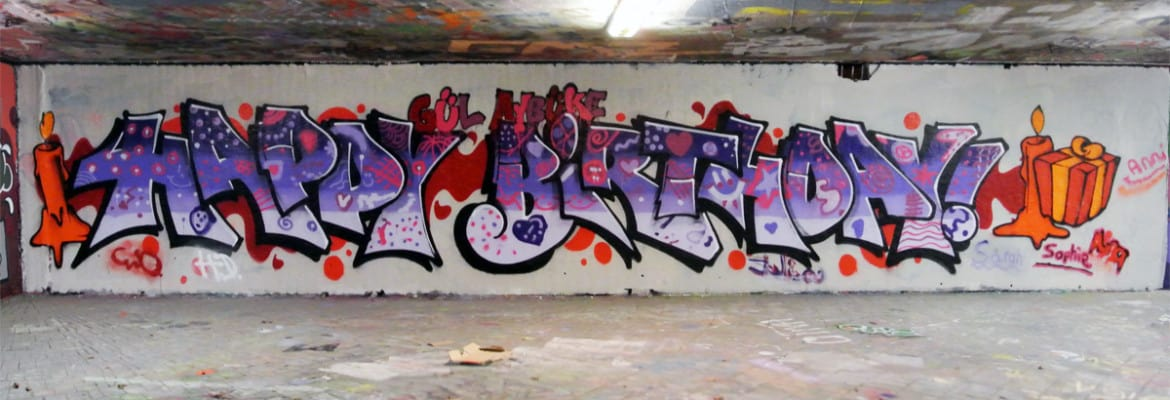Happy Birthday Schrift Graffiti ~ Graffiti stuttgart � kindergeburtstag workshop happy birthday
