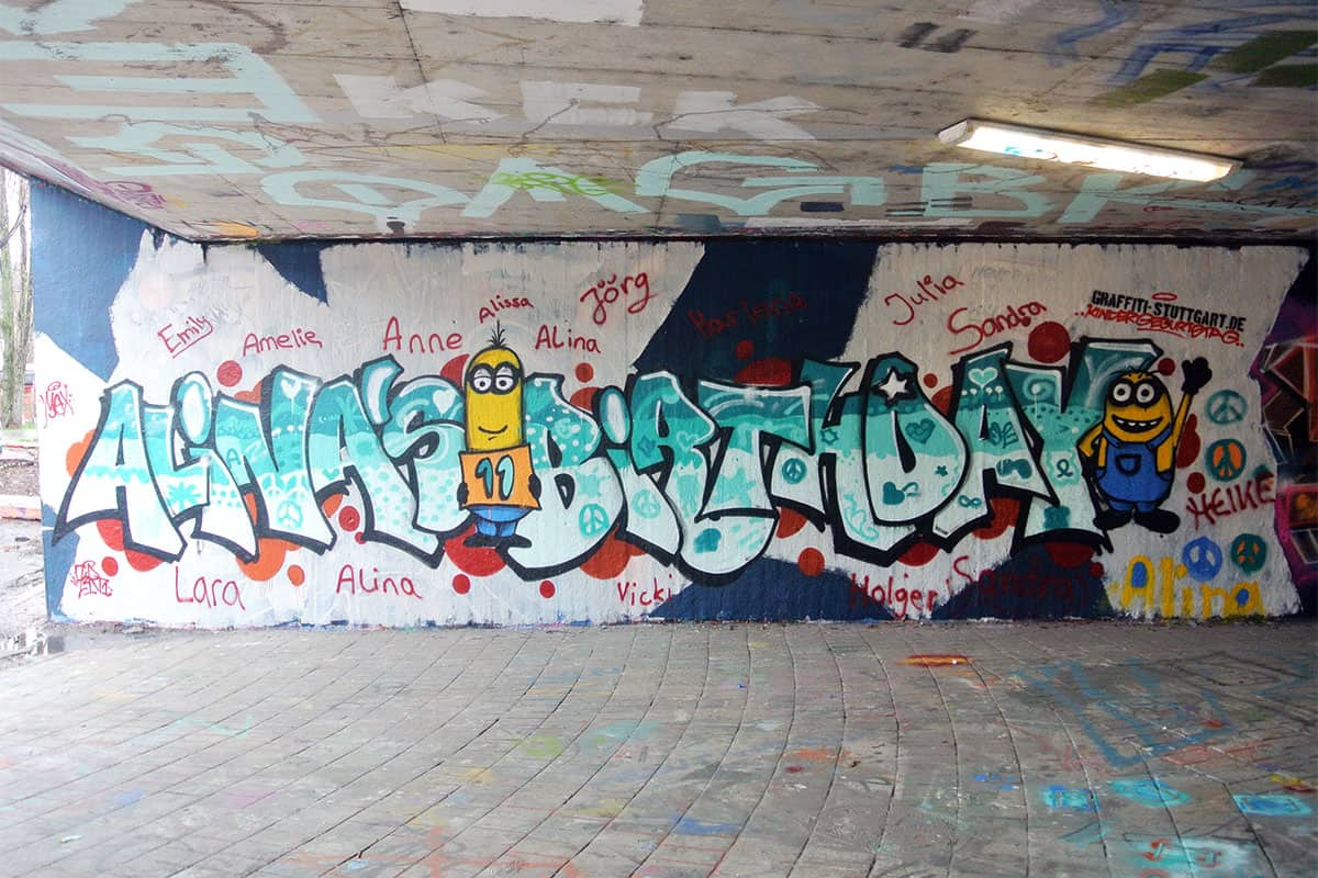 Happy Birthday Schrift Graffiti ~ Graffiti stuttgart � kindergeburtstag workshop alina�s birthday