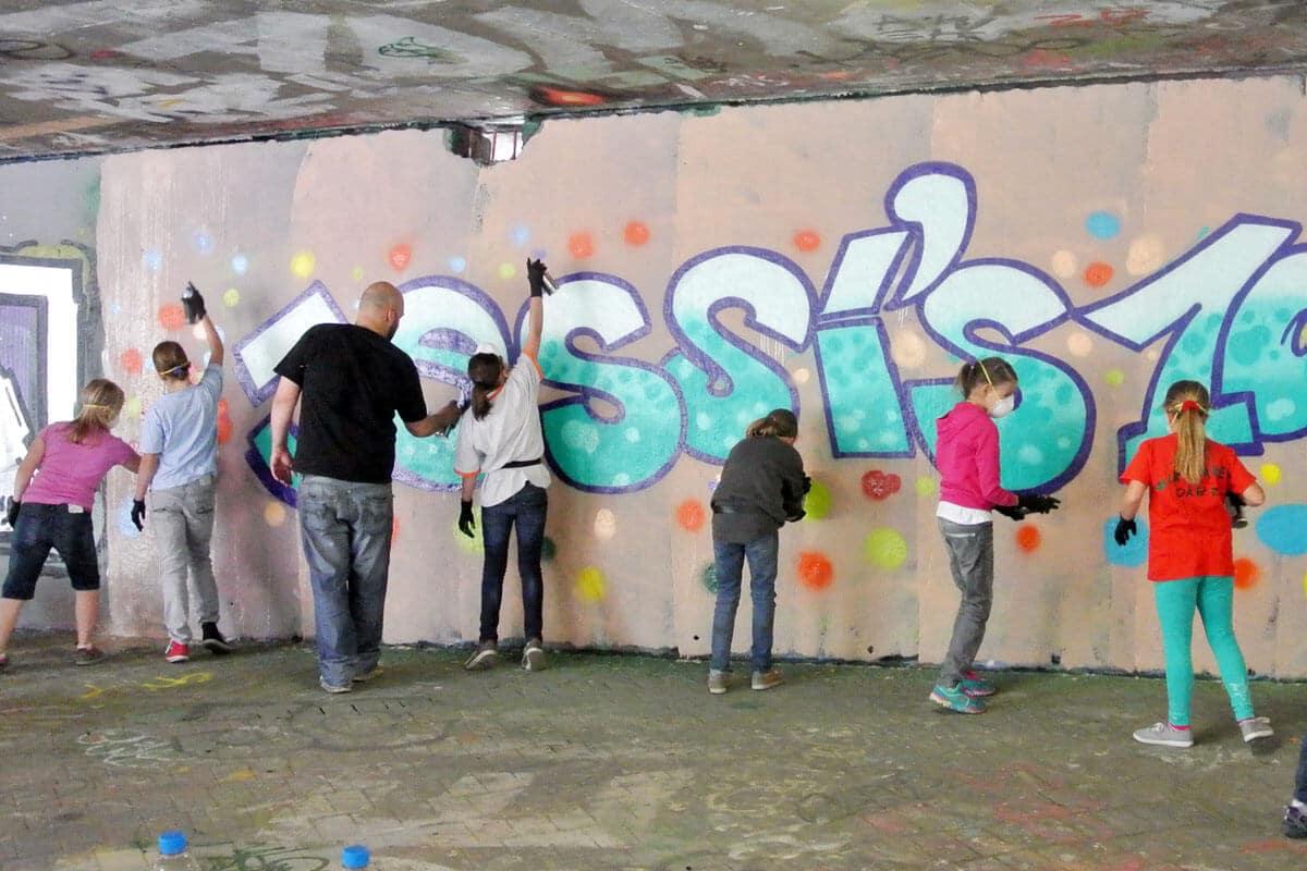 zum 10. Geburtstag von Jessica haben wir von Graffiti Stuttgart mit Ihr und Ihren Gästen einen coolen Graffiti Kindergeburtstag gefeiert.