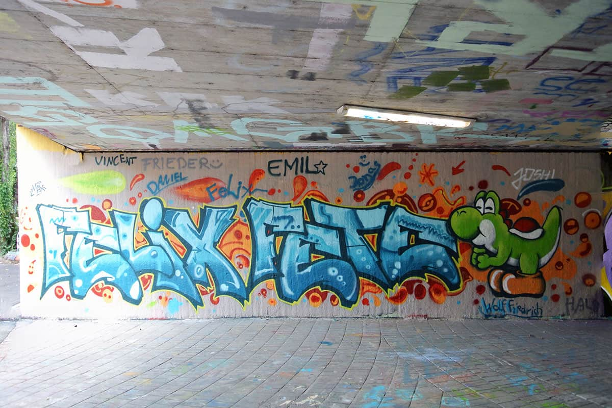 Um den 9. Geburtstag von Felix gebührend zu feiern, haben wir mit ihren Gästen ein coolen Graffiti kindergeburtstag geplant