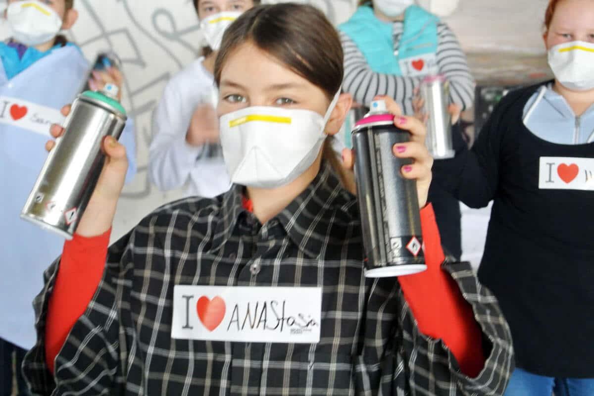 Zum 11. Geburtstag von Anastasias haben wir von Graffiti Stuttgart mit Ihr und Ihren Gästen einen coolen Graffiti-Kindergeburtstag gefeiert.