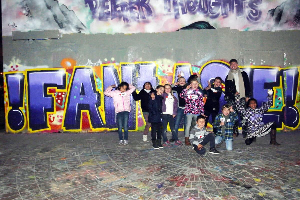 zum 09. Geburtstag von Alicia haben wir von Graffiti Stuttgart mit Ihr und Ihren Gästen einen coolen Graffiti Kindergeburtstag gefeiert.
