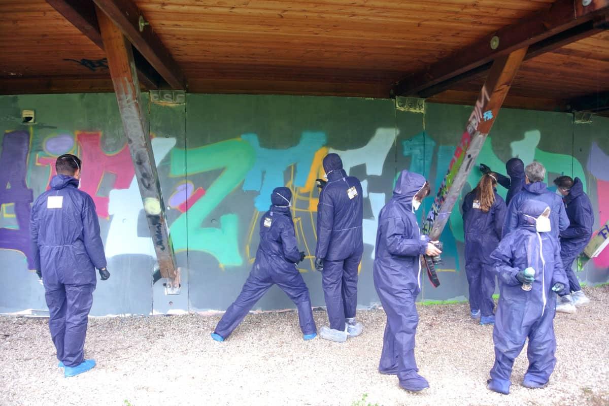 Zusammen mit Ulrike haben wir von Graffiti Stuttgart für einen ROTARY CLUB einen cooles Graffiti-Event organisiert.