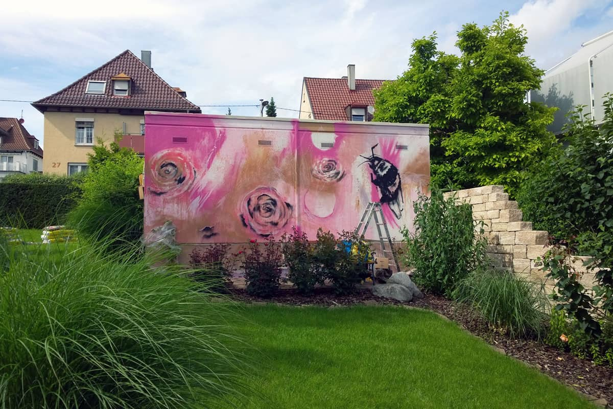 Graffiti Gestaltung Garage Und Gartenmauer Graffiti Stuttgart