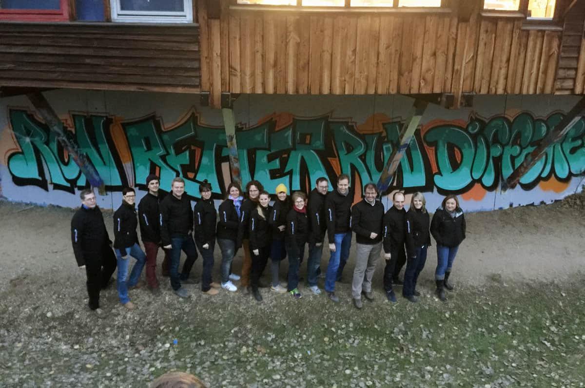Für die Mitarbeiter der Inspiricon AG wurden wir für einenGraffiti Kreativworkshop engagiert - Graffiti als Gemeinschaftserlebnis!