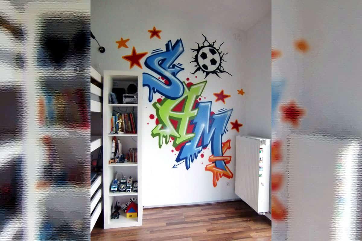 Graffiti Innenraumgestaltung Sam S Kinderzimmer Graffiti