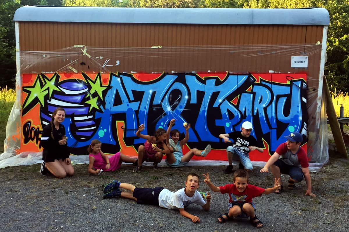 Graffiti Firmenevent AT&T Global Network Services Familienfest! AT&T buchte Graffiti-Stuttgart für e für Ihr Familienfest !