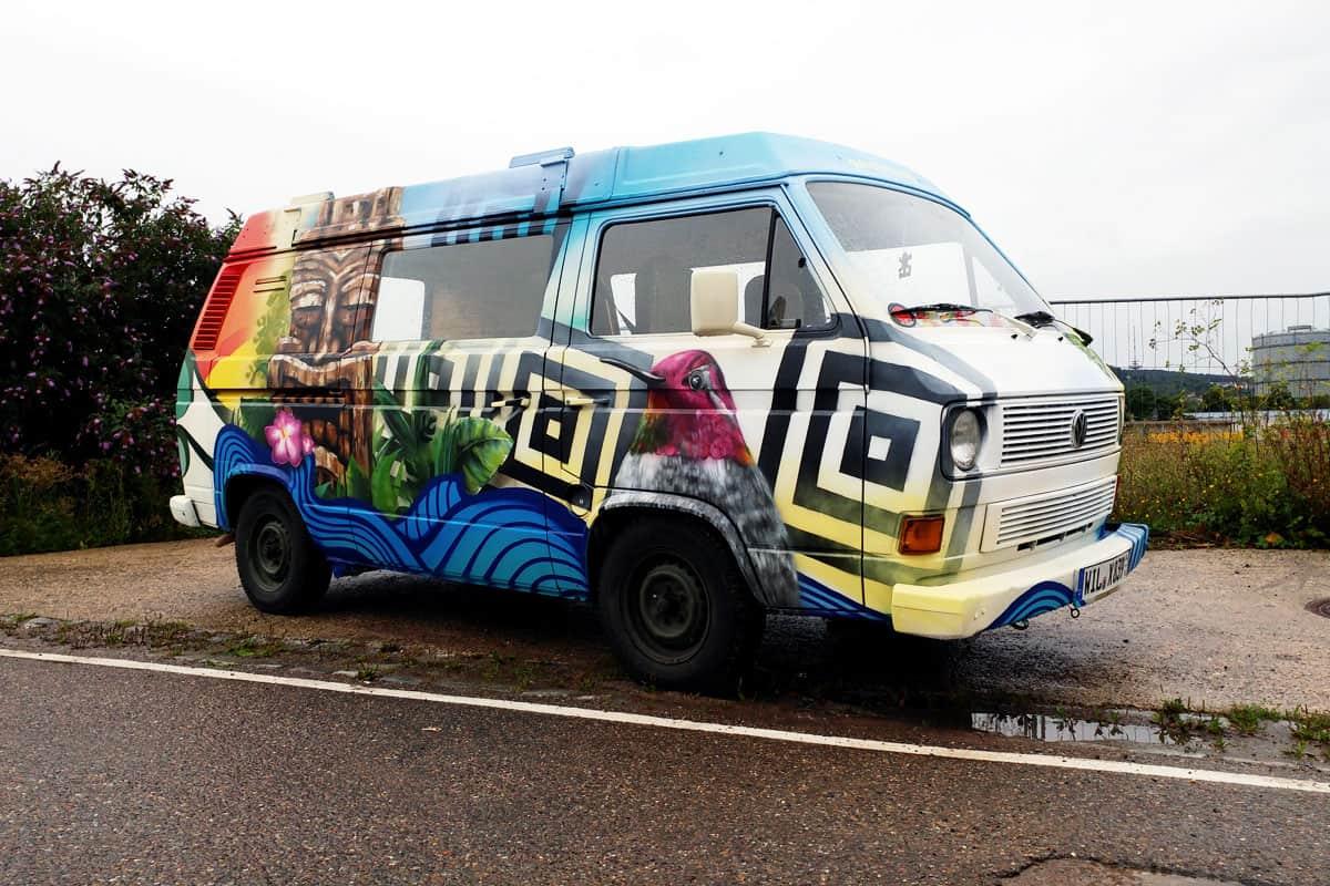 Graffiti Fahrzeuggestaltung