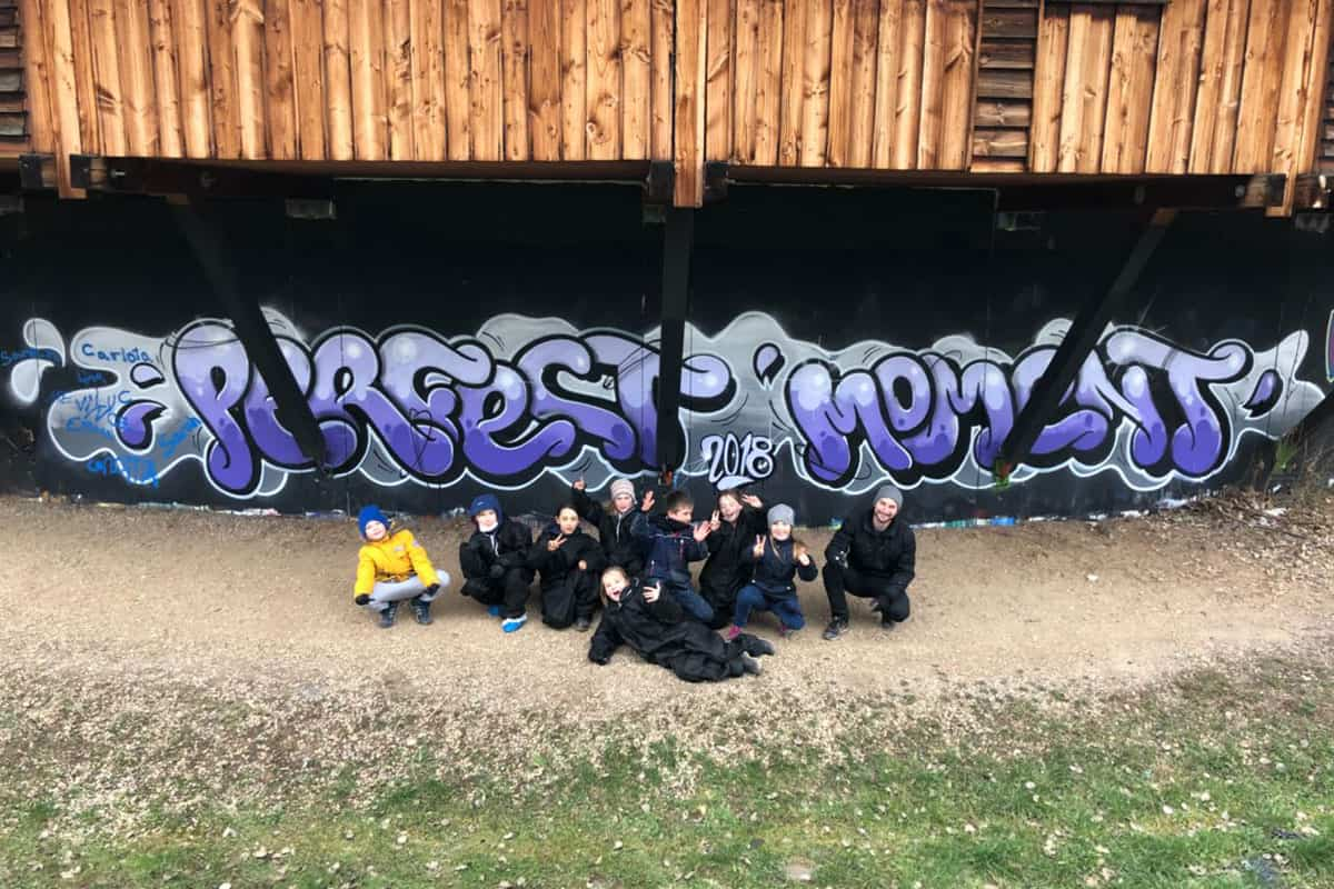 "Graffiti Kindergeburtstag Stuttgart ""Perfect Moment"""