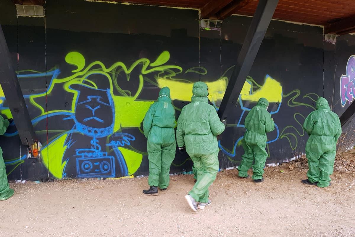 "Graffiti Kindergeburtstag Stuttgart ""AMELIE 0711"""