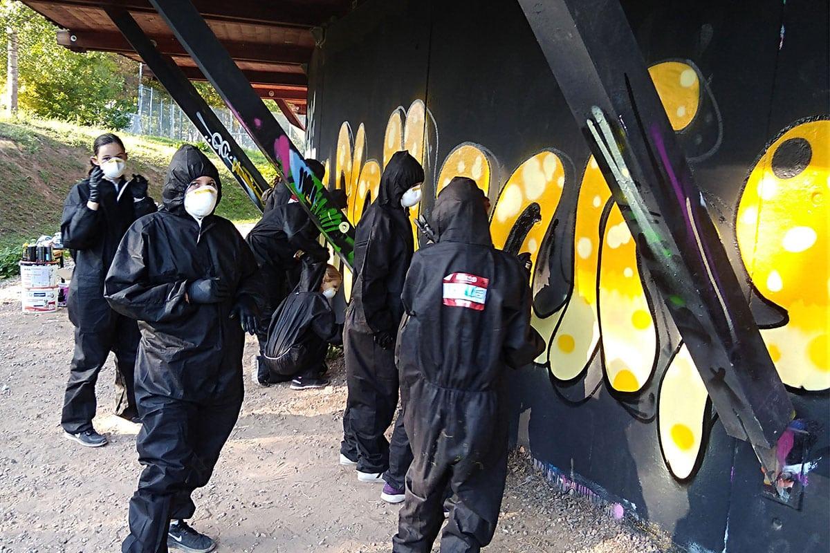 zum 12. Geburtstag von Luise haben wir von Graffiti Stuttgart mit Ihr und Ihren Gästen einen coolen Graffiti Kindergeburtstag gefeiert.