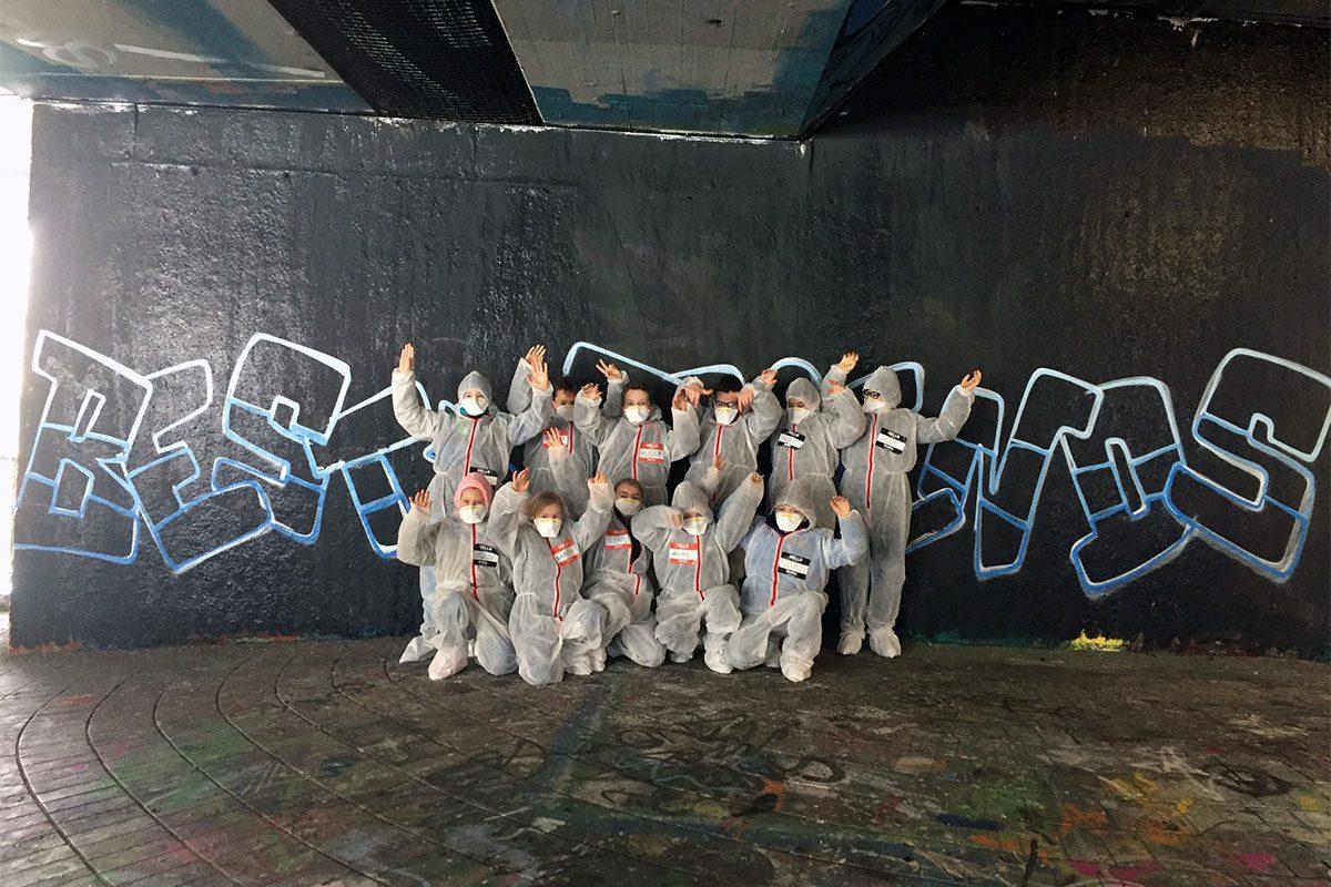 Um den 11. Geburtstag von Maxime gebührend zu feiern, haben wir von Graffiti Stuttgart mit seinen Gästen ein coolen Graffiti Geburtstag gesprüht!