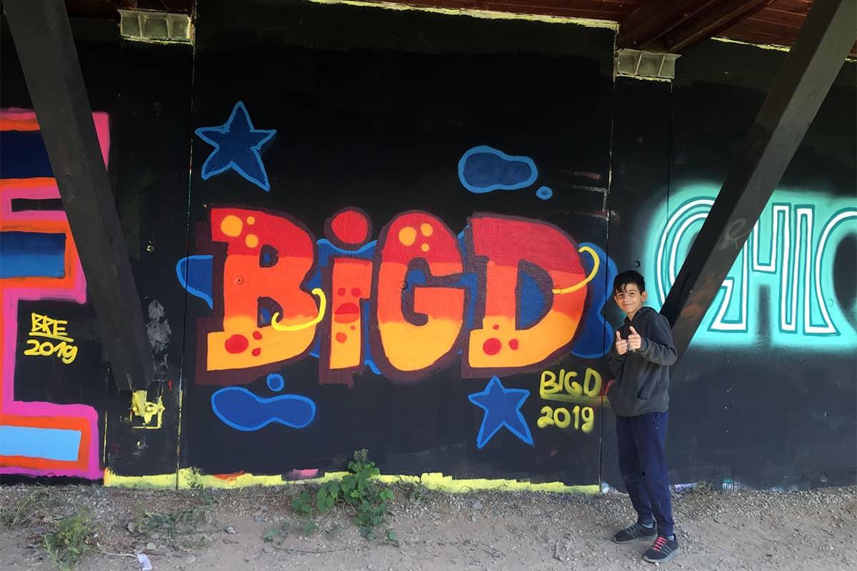 Der Graffiti Workshop Stuttgart Pfingstferien 2019 war wieder ein kreativeres Wochenende! Zusammen haben wir geplant,gezeichnet und gesprüht.