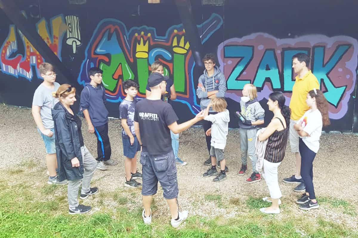 Der Graffiti Workshop Stuttgart Sommerferien 2019 #1 war wieder ein kreativeres Wochenende! Zusammen haben wir geplant,gezeichnet und gesprüht.
