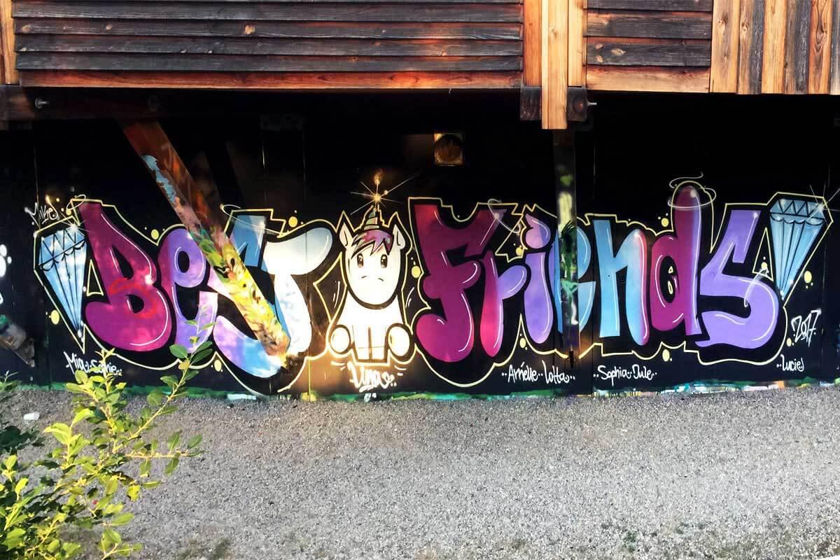 Graffiti Kindergeburtstag Stuttgart 22-07-2017 Lina