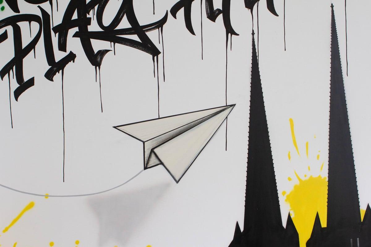 Die Dymatrix Consulting Group beauftrage Graffiti Stuttgart für die Gestaltung eines Besprechungsraums Ihrer Stuttgarter Niederlassung.