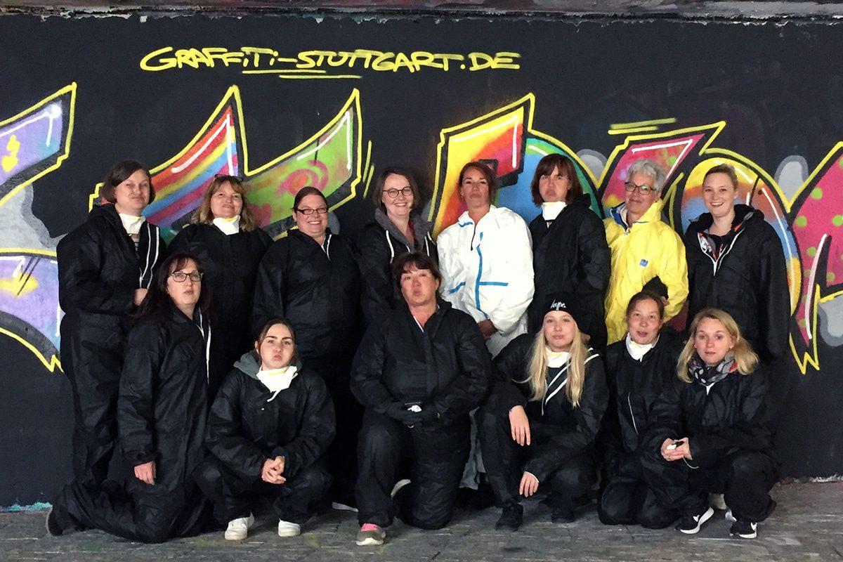 Betriebsausflug mal anders! Die Mitarbeiterinnen des Kindergarten St. Koloman aus Schwäbisch Gmünd wünschten sich einen künstlerischen Ausflug.