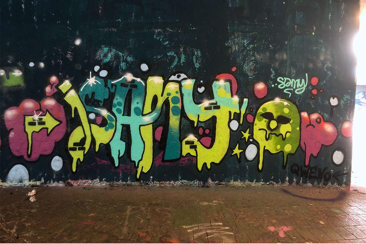Der Just Spray Graffiti Action Day Juni 2020 war wieder ein kreativerer Tag! Zusammen haben wir einfach nur mal Graffiti gesprüht!