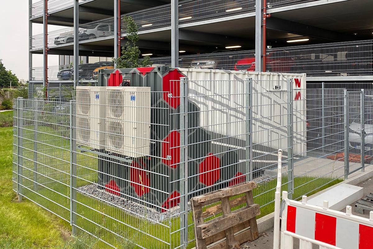 Für das Wolff & Müller Bauunternehmen, wurden wir beauftragt in Zuffenhausen einen Container zu gestalten.