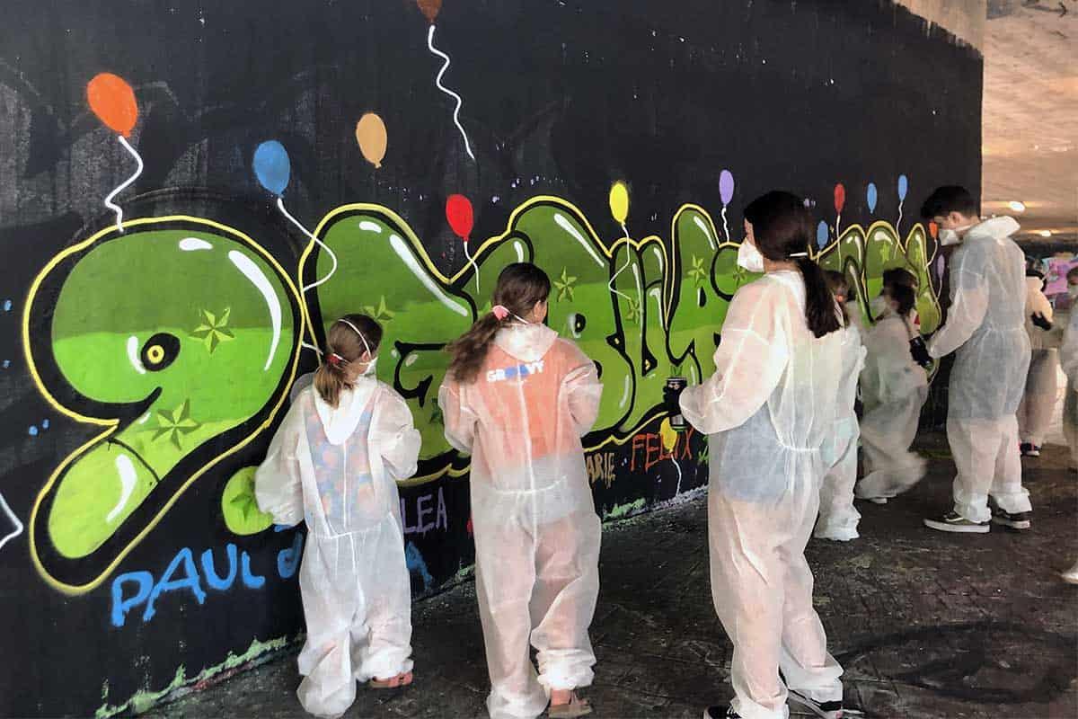 zum 9. Geburtstag von Paul haben wir von Graffiti Stuttgart mit Ihm und seinen Gästen einen coolen Graffiti Kindergeburtstag gefeiert.