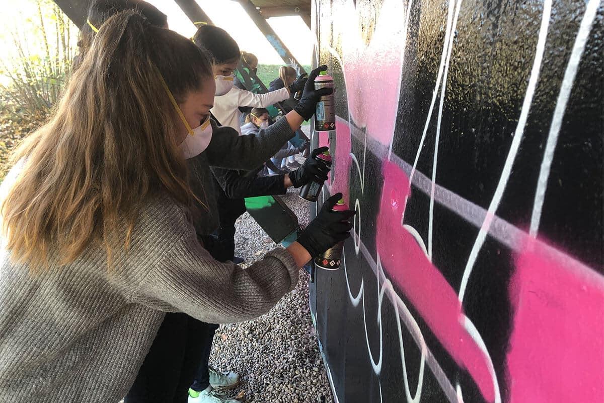 Graffiti Kindergeburtstag Stuttgart Caroline
