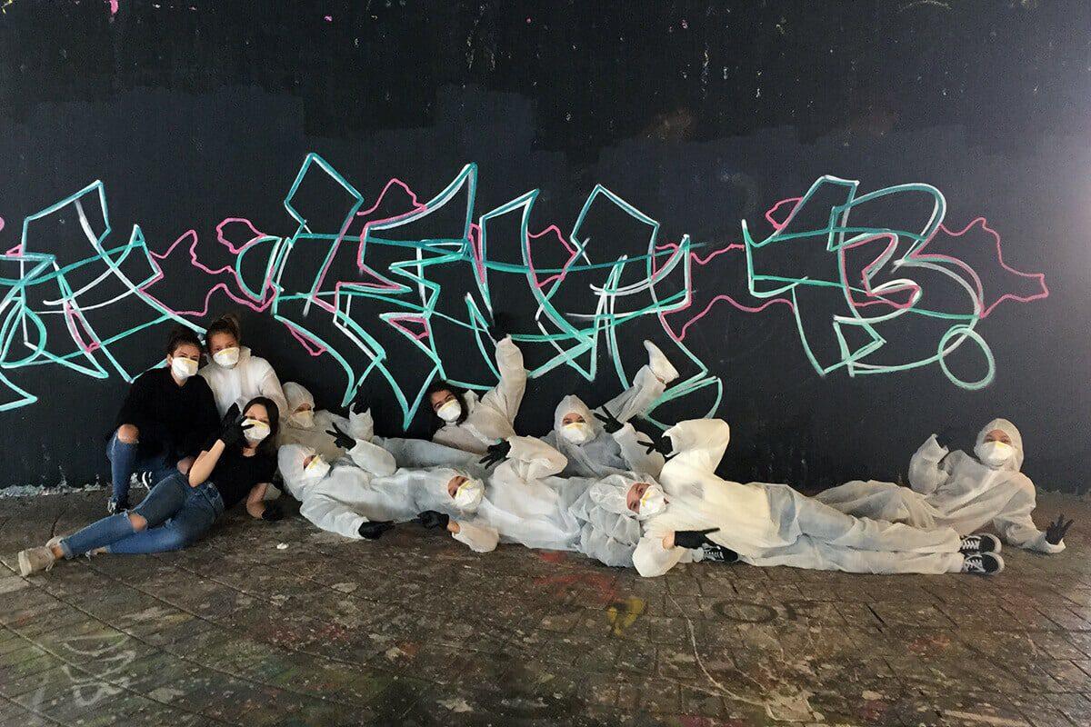 Zum 13. Geburtstag von Anna Lena haben wir von Graffiti Stuttgart mit Ihr und Ihren Gästen einen coolen Graffiti-Kindergeburtstag gefeiert.