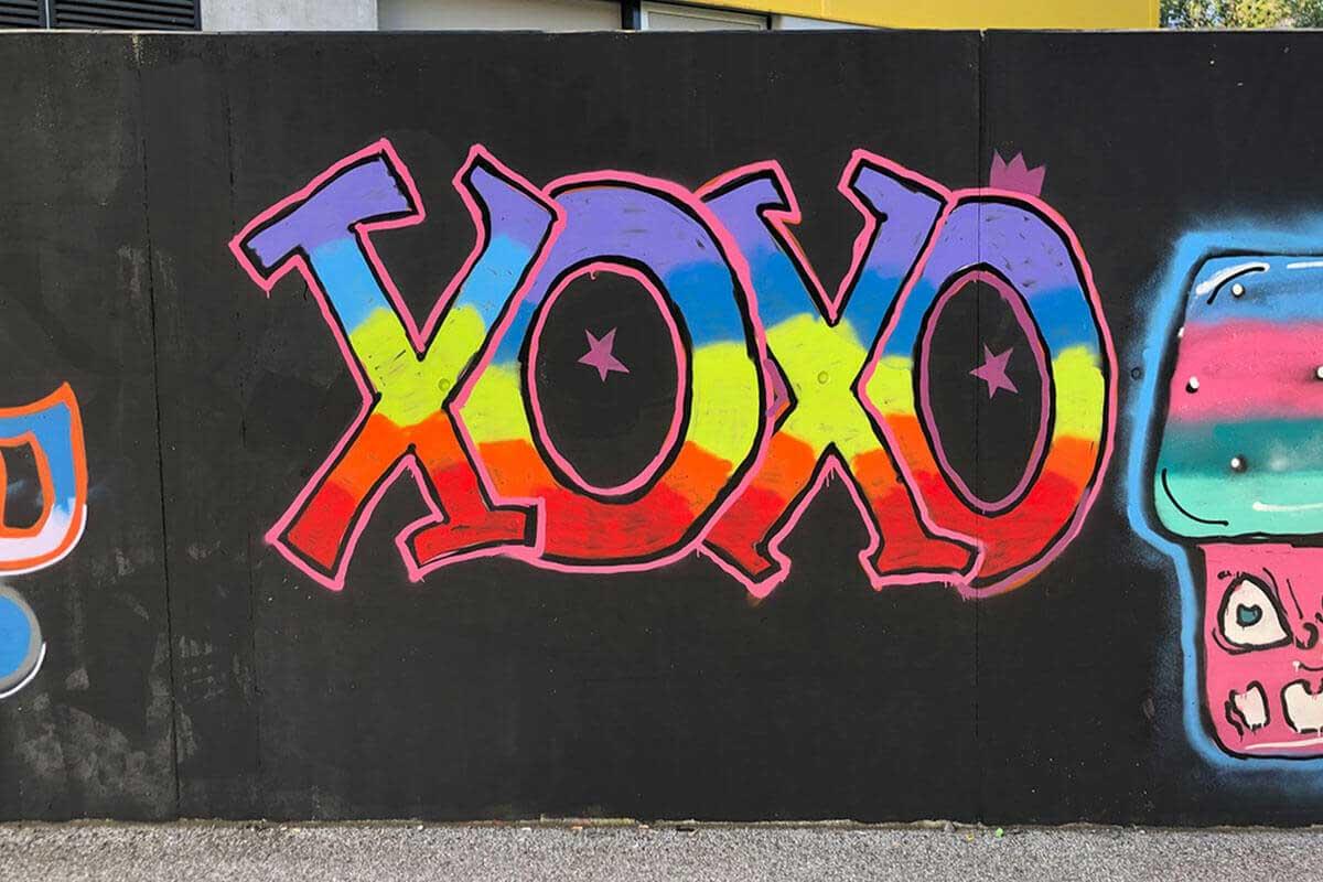 """Graffiti Familienevent Stuttgart """"Die Crew"""" Zusammen mit der Familie Mahn hatten wir farbenfrohes Graffiti Familienevent!"""