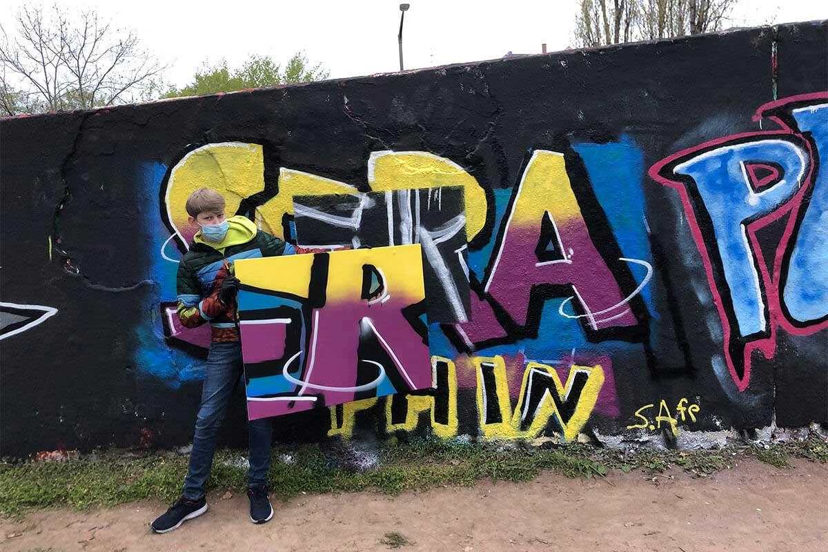 Der Just Spray Graffiti Action Day April 2021 war wieder ein kreativerer Tag! Zusammen haben wir einfach nur mal Graffiti gesprüht!