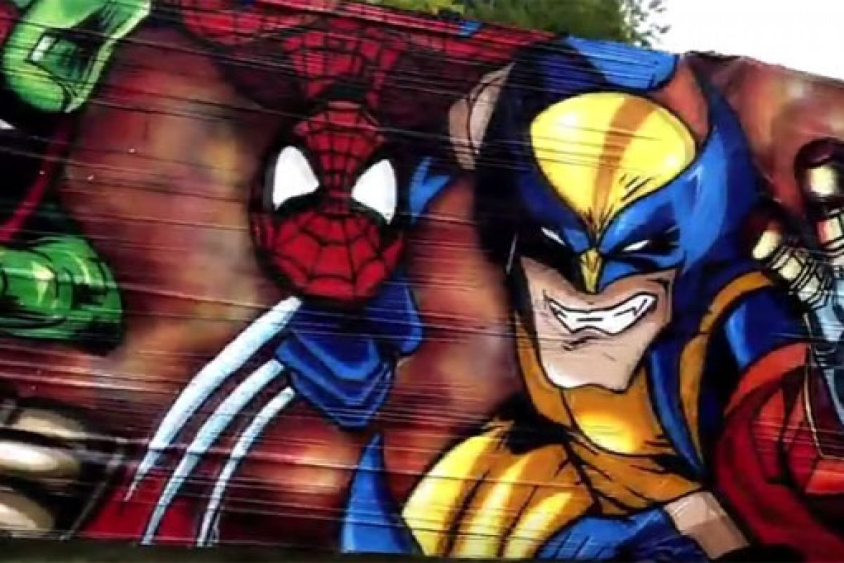 VIDEO-NEWS---MARVEL-vs-DC-Graffiti-by-O.G.-Benny-SAN---Comic-Con-Germany-2017